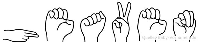 Heaven in Fingersprache für Gehörlose