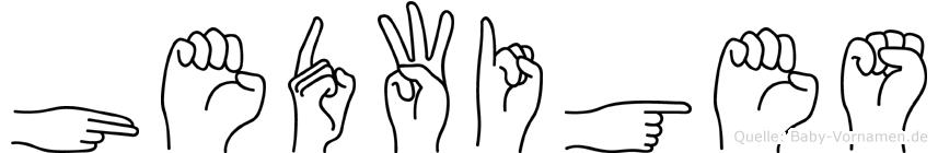 Hedwiges im Fingeralphabet der Deutschen Gebärdensprache