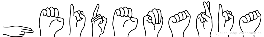 Heidemaria in Fingersprache für Gehörlose