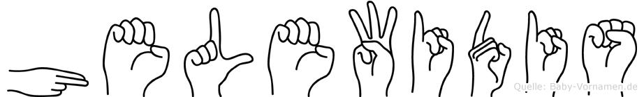 Helewidis in Fingersprache für Gehörlose
