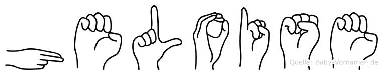 Heloise im Fingeralphabet der Deutschen Gebärdensprache