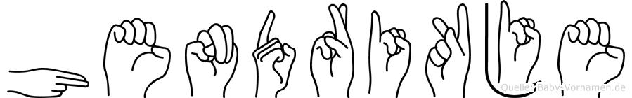 Hendrikje in Fingersprache für Gehörlose