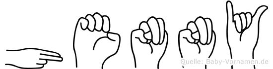 Henny im Fingeralphabet der Deutschen Gebärdensprache