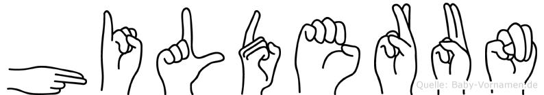 Hilderun im Fingeralphabet der Deutschen Gebärdensprache