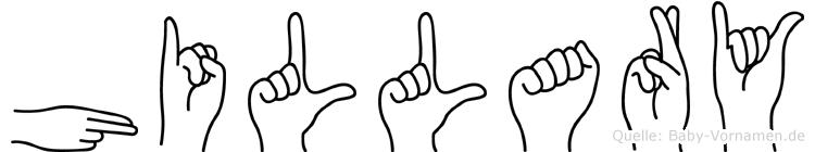 Hillary in Fingersprache für Gehörlose