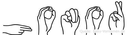 Honor in Fingersprache für Gehörlose
