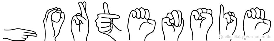 Hortensie im Fingeralphabet der Deutschen Gebärdensprache