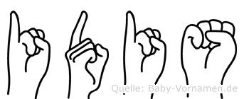 Idis im Fingeralphabet der Deutschen Gebärdensprache