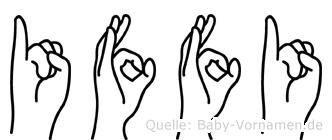 Iffi in Fingersprache für Gehörlose