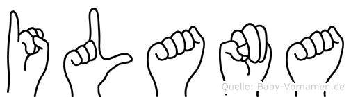 Ilana im Fingeralphabet der Deutschen Gebärdensprache
