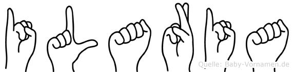 Ilaria in Fingersprache für Gehörlose