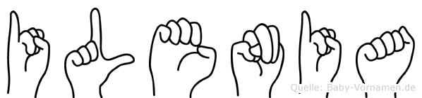 Ilenia im Fingeralphabet der Deutschen Gebärdensprache
