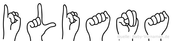 Iliana im Fingeralphabet der Deutschen Gebärdensprache