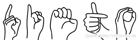 Dieto in Fingersprache für Gehörlose