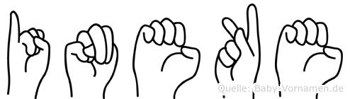 Ineke in Fingersprache für Gehörlose