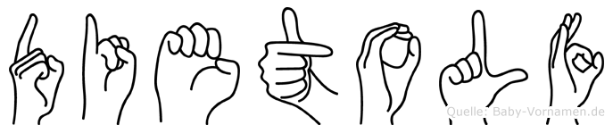 Dietolf im Fingeralphabet der Deutschen Gebärdensprache
