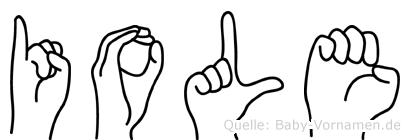 Iole in Fingersprache für Gehörlose