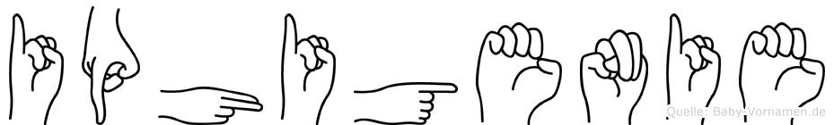 Iphigenie im Fingeralphabet der Deutschen Gebärdensprache