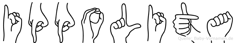 Ippolita in Fingersprache für Gehörlose