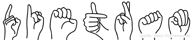 Dietram in Fingersprache für Gehörlose