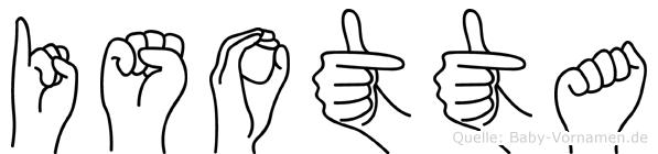 Isotta in Fingersprache für Gehörlose
