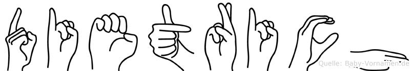 Dietrich in Fingersprache für Gehörlose