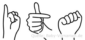 Ita in Fingersprache für Gehörlose