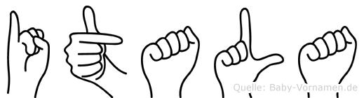 Itala in Fingersprache für Gehörlose