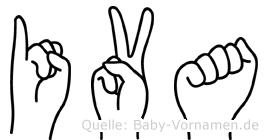 Iva im Fingeralphabet der Deutschen Gebärdensprache