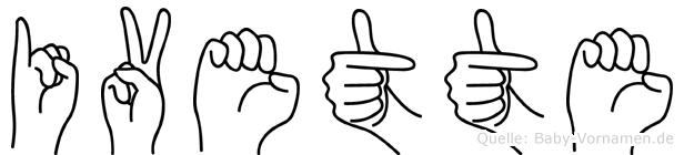 Ivette in Fingersprache für Gehörlose