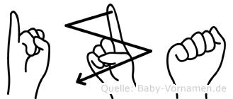 Iza in Fingersprache für Gehörlose