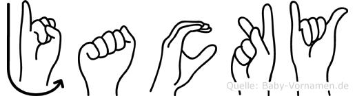 Jacky in Fingersprache für Gehörlose