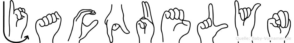 Jacquelyn in Fingersprache für Gehörlose