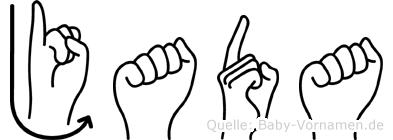 Jada in Fingersprache für Gehörlose