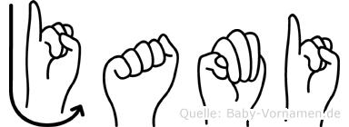 Jami in Fingersprache für Gehörlose