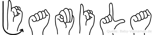 Jamila im Fingeralphabet der Deutschen Gebärdensprache