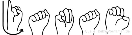 Janae im Fingeralphabet der Deutschen Gebärdensprache