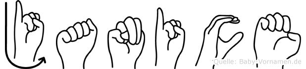 Janice in Fingersprache für Gehörlose
