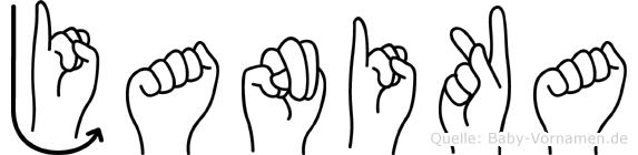 Janika im Fingeralphabet der Deutschen Gebärdensprache
