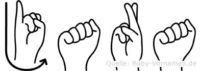 Jara in Fingersprache für Gehörlose