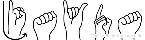 Jayda im Fingeralphabet der Deutschen Gebärdensprache