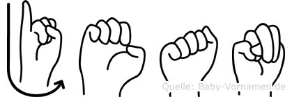 Jean im Fingeralphabet der Deutschen Gebärdensprache