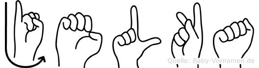 Jelka in Fingersprache für Gehörlose