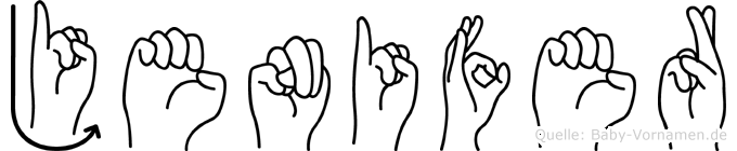 Jenifer in Fingersprache für Gehörlose