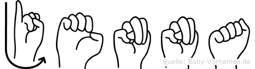 Jenna im Fingeralphabet der Deutschen Gebärdensprache