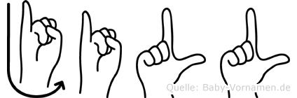 Jill im Fingeralphabet der Deutschen Gebärdensprache