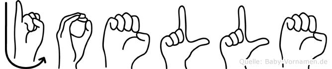 Joelle im Fingeralphabet der Deutschen Gebärdensprache