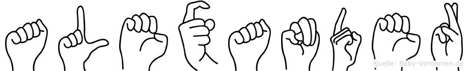 Alexander in Fingersprache für Gehörlose