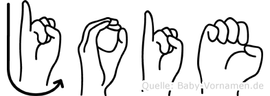 Joie in Fingersprache für Gehörlose