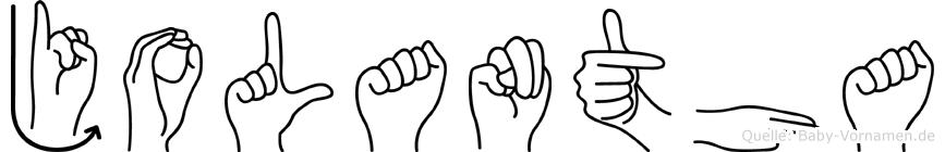 Jolantha in Fingersprache für Gehörlose